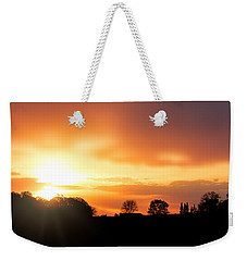 Country Sunset Silhouette Weekender Tote Bag