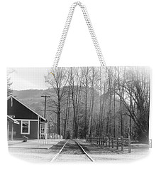 Weekender Tote Bag featuring the photograph Country Train Depot by Tikvah's Hope