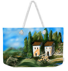 Countryside Weekender Tote Bag by Christine Fournier