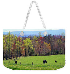 Weekender Tote Bag featuring the photograph Countryside In Spring by Kathryn Meyer