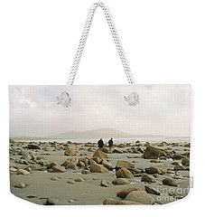 Weekender Tote Bag featuring the photograph Couple And The Rocks by Rebecca Harman