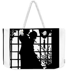 Weekender Tote Bag featuring the digital art Couple In Love Silhouette by Rose Santuci-Sofranko