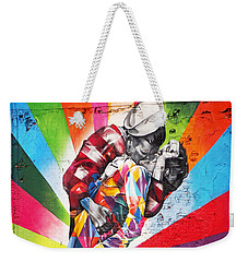 Couple Kissing In Times Square On V-j Day Weekender Tote Bag