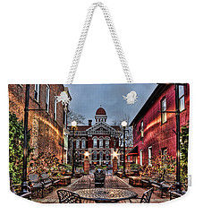 Courtyard Courthouse Weekender Tote Bag