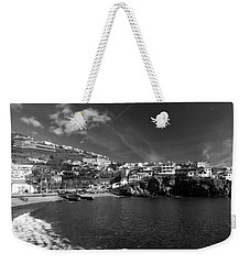 Cove In Black And White Weekender Tote Bag