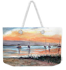 Cove Sunrise Weekender Tote Bag by Clara Sue Beym