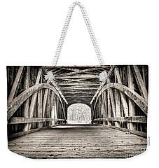 Covered Bridge B N W Weekender Tote Bag