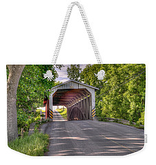Weekender Tote Bag featuring the photograph Covered Bridge by Jim Thompson