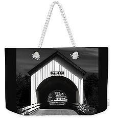 Covered Bridge Weekender Tote Bag by Melanie Lankford Photography