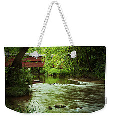Covered Bridge Over French Creek Weekender Tote Bag