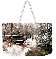 Covered In Snow Weekender Tote Bag