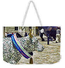 Cow Parade N Y C  2000 - Live Stock Cow Weekender Tote Bag