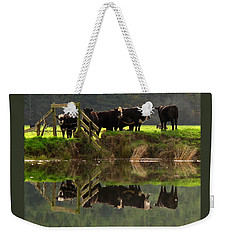Cow Reflections Weekender Tote Bag