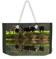 Cow Reflections Weekender Tote Bag