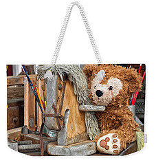 Weekender Tote Bag featuring the photograph Cowboy Bear by Thomas Woolworth