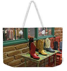 Weekender Tote Bag featuring the photograph Cowboy Boots by Dora Sofia Caputo Photographic Art and Design