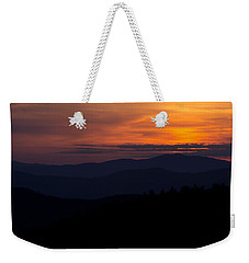 Weekender Tote Bag featuring the photograph Cowee Mountain Overlook #2 by Ben Shields