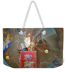 Cowgirl Cadillac Weekender Tote Bag by Mayhem Mediums