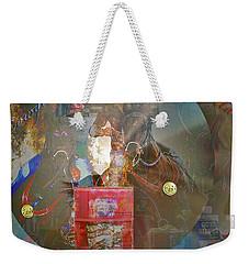 Cowgirl Cadillac Weekender Tote Bag
