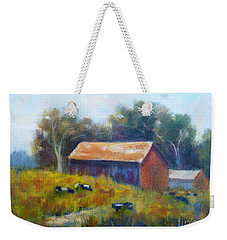 Cows By The Barn Weekender Tote Bag