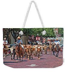 Cowtown Cattle Drive Weekender Tote Bag