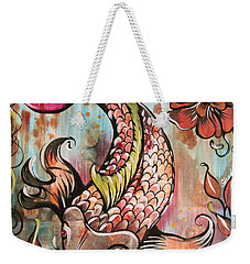 Coy Koi Weekender Tote Bag by Shadia Derbyshire