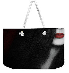 Weekender Tote Bag featuring the painting Coy by Pat Erickson