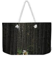 Coyote Howling In Woods Weekender Tote Bag