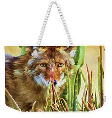 Coyote In The Aloe Weekender Tote Bag