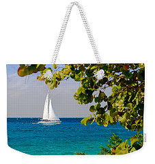 Weekender Tote Bag featuring the photograph Cozumel Sailboat by Mitchell R Grosky