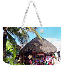 Weekender Tote Bag featuring the photograph Cozumel Souvernir Shopping by Debra Martz