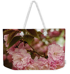 Weekender Tote Bag featuring the photograph Crab Apple Blossoms by James C Thomas
