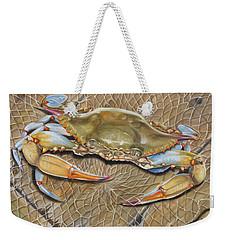 Crab In A Trap Weekender Tote Bag by Phyllis Beiser