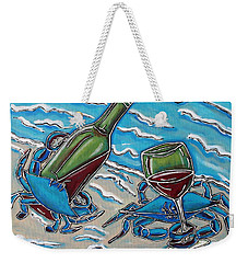 Crab Wine Time Weekender Tote Bag