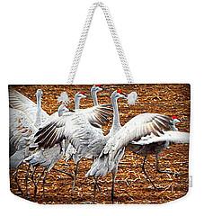 Crane Ballet  Weekender Tote Bag