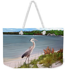 Crane By The Sea Shore Weekender Tote Bag