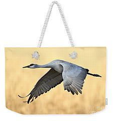 Crane Over Golden Field Weekender Tote Bag by Bryan Keil