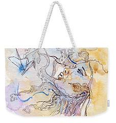 Cranes Weekender Tote Bag by Alexandra Louie