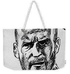 Weekender Tote Bag featuring the painting Jason Statham by Salman Ravish