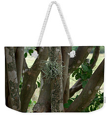 Weekender Tote Bag featuring the photograph Crape Myrtle Growth Ball by Peter Piatt