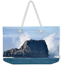 Weekender Tote Bag featuring the photograph Crash by AJ  Schibig