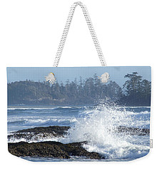 Weekender Tote Bag featuring the photograph Crash by Marianne NANA Betts