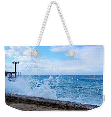 Weekender Tote Bag featuring the photograph Crashing Waves In Cozumel by Debra Martz