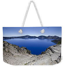Weekender Tote Bag featuring the photograph Crater Lake by David Millenheft