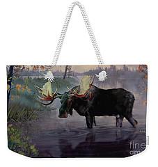 Craven Moose Weekender Tote Bag