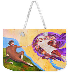 Creation Of A Sock Monkey Weekender Tote Bag