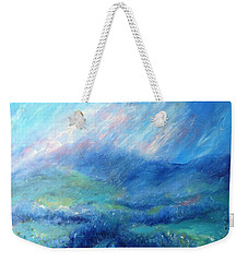 Crecrin Laneway To The Wicklow Mts. Weekender Tote Bag by Trudi Doyle