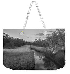 Weekender Tote Bag featuring the photograph Creek At Wilmington Island by Frank Bright