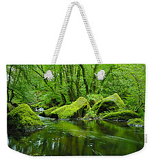 Creek In The Woods Weekender Tote Bag by Chevy Fleet