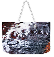 Creek Twirls Abstract Macro Weekender Tote Bag